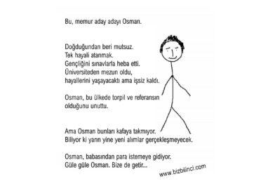 Bu, memur aday adayı Osman…
